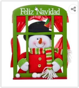 Boneco de Neve Santini Christmas Janela 811406B | R$ 18