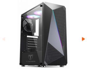 Gabinete Gamer T-Dagger G25B, Mid Tower, RGB, Black, ATX, Sem Fonte, Sem Fan, TGC-G25B - R$209
