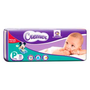 Fralda Cremer Disney Baby Tamanho P Pacote Prática com 30 Fraldas Descartáveis | R$ 14