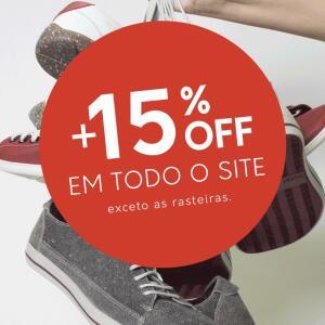 Outershoes - Todo o site com 15% de desconto