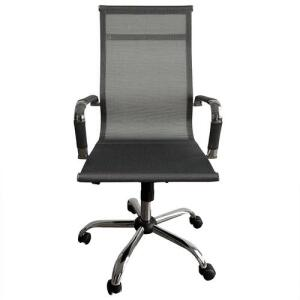 Cadeira Escritorio Diretor Giratoria Premium Prata - MAXOFFICE | R$449