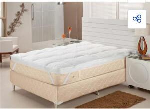 Pillow Top Casal Plumasul Fibra Siliconizada em Flocos Percal 233 fios - Branco - R$624