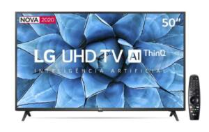 "Smart TV LED 50"" UHD 4K LG - R$2374"