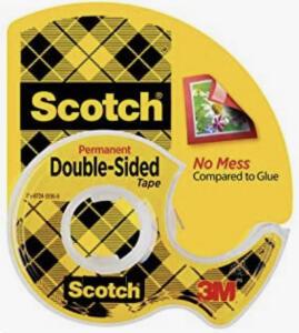[Prime] Fita Dupla-Face Scotch com Suporte - 12,7 mm x 6,35 m | R$11