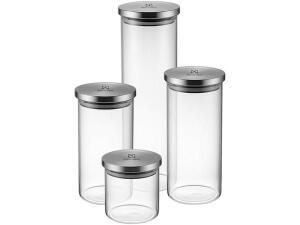 [Cliente Ouro] Jogo de Potes de Vidro Hermético Electrolux 4 Peças | R$70