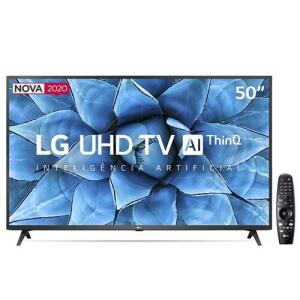 "Smart TV LED 50"" UHD 4K LG 50UN7310PSC - R$2374"
