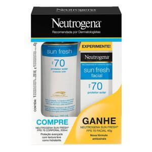 Kit Neutrogena Protetor Solar Corporal FPS70 200ml + Facial FPS70 40g | R$65