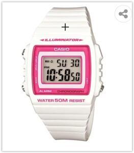 Relógio Digital Casio W-215H-7A2VDF - Branca | R$ 100