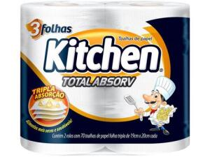 [app + c.ouro + MagaluPay] Papel Toalha Folha Tripla Kitchen Total Absorv | mín 6 | R$0,64 cada