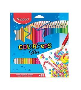 Lápis de Cor, Maped, Color Peps, 832048ZV, 48 Cores | R$36