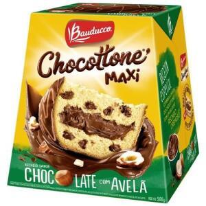 Chocottone Bauduco avelã 500g R$8