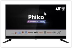 [Reembalado] Smart TV LED 40'' Philco PTV40G60SNBL FHD   R$ 1199