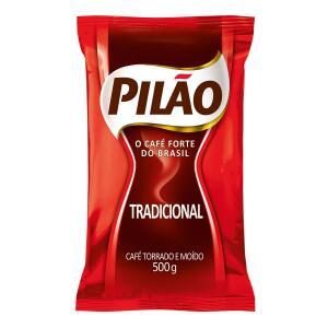 Café Pilão Torrado E Moído Tradicional Almofada 500g | R$8