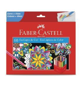 Lápis de Cor, Faber-Castell, EcoLápis, 60 Cores   R$64