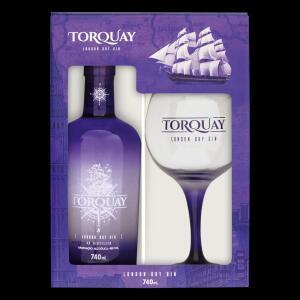 Kit Taça + Gin London Dry Torquay 740ml | R$70
