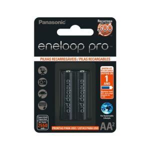 Pilha Recarregável Panasonic Eneloop Pro 2550ma Aa Blister 2 | R$48