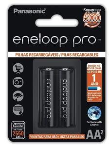[PRIME] 2 Pilhas Recarregáveis Panasonic Eneloop PRO AA | R$57,90