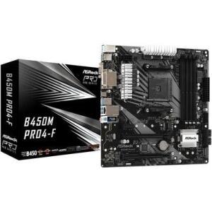 Placa-mãe Asrock B450M Pro4-F, AMD AM4, mATX, DDR4 - R$655