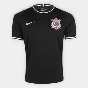 Camisa Corinthians II 19/20 s/nº Torcedor Nike Masculina - Preto e Branco - (P) - R$75
