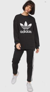 Moletom adidas Originals Trefoil Crew Preto | R$140