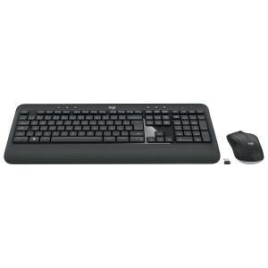 Combo Teclado e Mouse Logitech MK540 Advanced Sem Fio ABNT2 Black,   R$ 230