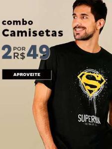 2 Camisetas por R$ 50