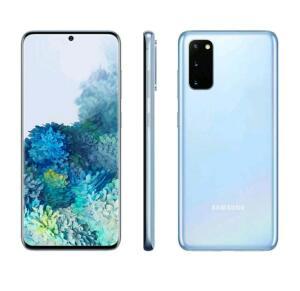"Smartphone Samsung Galaxy S20 128GB Cloud Blue 4G - Octa-Core 8GB RAM 6,2"" - R$2699"