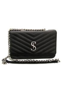 Bolsa Clutch Pequena de lado Matelassê Selten Preta - R$85