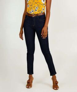 Calça Jeans Skinny Feminina Bolsos | R$45