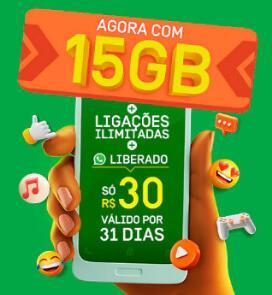 [Oi Pré] 15GB DE INTERNET+ APPS E LIGAÇÕES ILIMITADAS | R$30 POR MÊS
