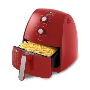 [AME R$343] Fritadeira Elétrica Air Fryer Midea 4L Vermelha   R$389