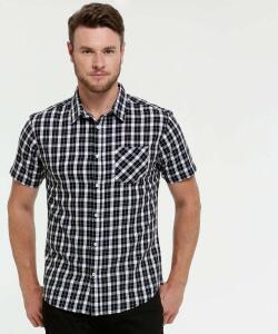 Camisa Masculina Estampa Xadrez Manga Curta MR | R$ 32
