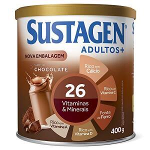 Sustagen Adultos+ Sabor Chocolate - Lata 400g | R$40
