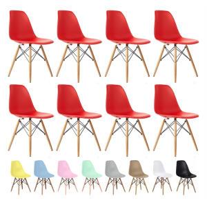 Kit 8 Cadeiras Charles Eames Eiffel Wood Design Varias Cores   R$813
