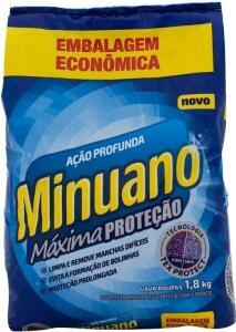 [C. OURO] Sabão em Pó Minuano Máxima Proteção - Ação Profunda 1,8kg | R$9