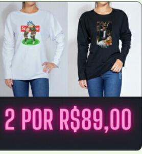 2 MOLETONS MEIA ESTAÇÃO POR R$89