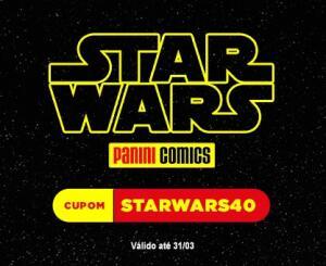 40% OFF em todas HQ's de Star Wars