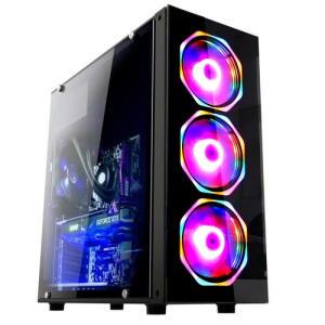 PC Gamer Fácil Intel Core i5 3.60Ghz 8Gb Amd Radeon Rx550 4GB HD 500GB + Kit Coolers Led | R$ 2674