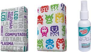 [Prime] Kit com 2 Esponjas Microfibra e 1 Limpa Telas Spray 120ml - R$17