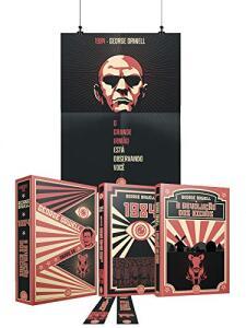 Box Obras De George Orwell + Pôster + Marcadores + Cards - R$ 35