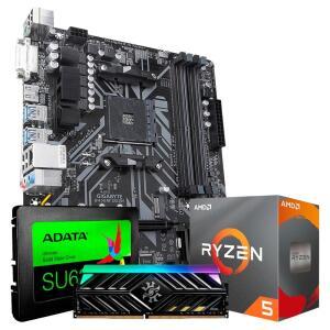 Kit Upgrade Ryzen 5 3600/ 8gb ddr4 3000 MHz/ SSD 480 GB/ B450 MB - R$2599
