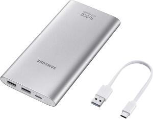 Bateria Externa, 10,000Mah USB Tipo C Prata, Samsung, EB-P1100CSPGBR | R$80