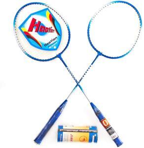 AX Esportes Kit Badminton c/ 2 Raquetes e 3 Petecas PRO | R$48