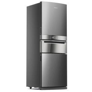 Refrigerador Brastemp Frost Free BRY59BK Inverse 3 com Freeze Control Pro Inox – 419 Litros R$4591