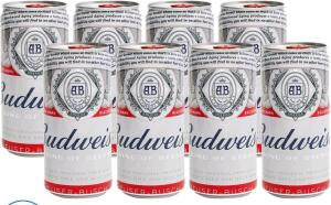 [Magalupay R$18] Cerveja Budweiser 8 unidades 269ml R$24