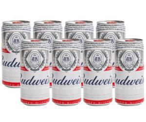 [App | MagaluPay] Cerveja Budweiser - 8 unidades | R$18