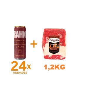 Kit 24 Brahmas Duplo Malte + Entrecote Filé Costela Bovino Maturatta Friboi 1,2kg   R$128