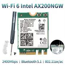 Placa wifi6 Intel ax200 2974mbps bluetooth 5.1 - R$95
