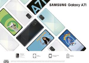 "Smartphone Samsung Galaxy A71, Preto,Tela 6.7"",4 R$1709"