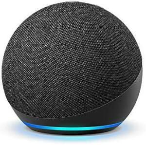 (Prime) Novo Echo Dot (4ª Geração): Smart Speaker com Alexa - Cor Preta - R$284
